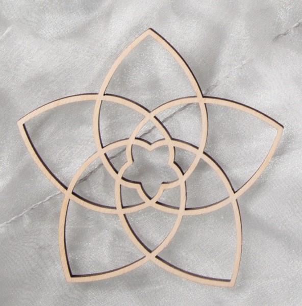 Venusblume aus Holz 10,8 cm
