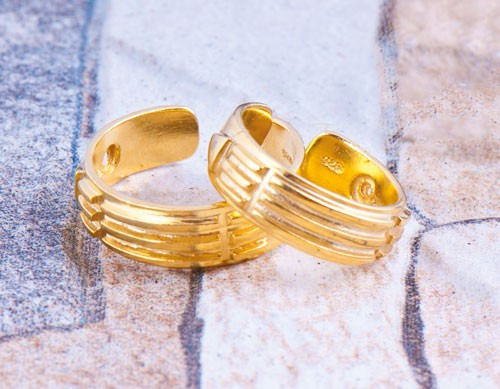 Atlantisring (Herrengröße) vergoldet