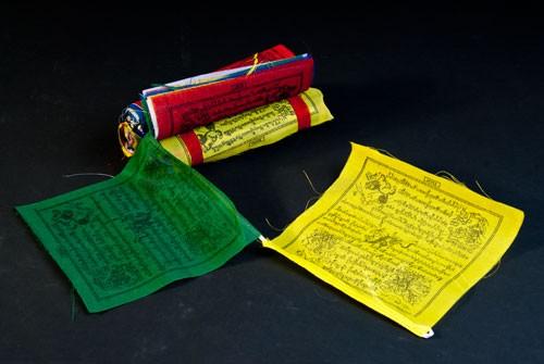 Tibetische Gebetsfahnen klein, 25 Stück