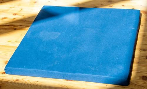 Meditationsmatte dunkelblau mit Kokosnuss-Faser