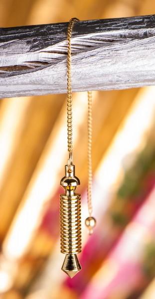 Isispendel, Messing vergoldet