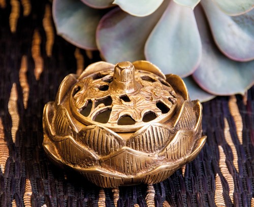Lotus Räuchergefäß