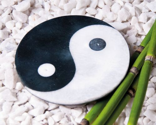 Ying-Yang - Räucherstäbchenhalter aus Marmor