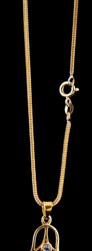 Fuchsschwanzkette 50 cm vergoldet