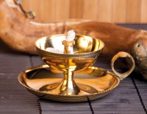 Ghee-Lampe, Messing, 8 cm