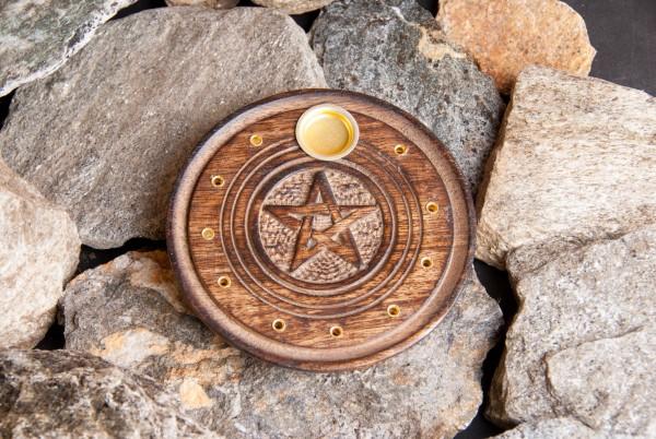 Stäbchen- und Kegelhalter Pentagramm