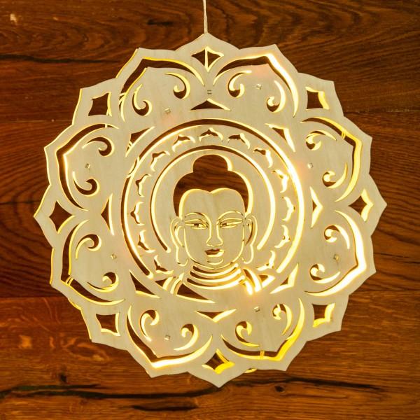 Lichtobjekt Buddha