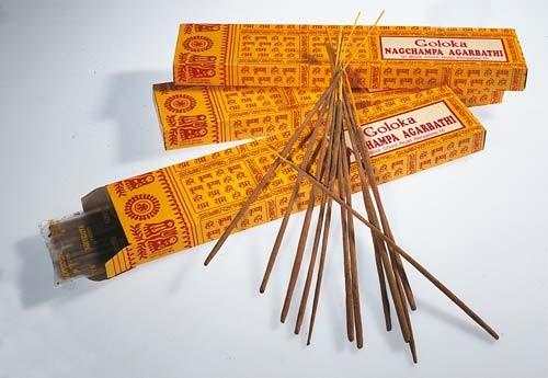 Goloka Nag Champa Räucherstäbchen 15 g