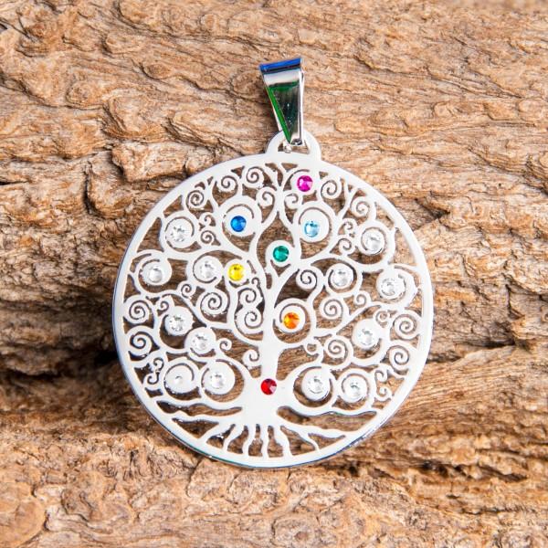 Yggdrasil - Weltenbaum Chakra mit 19 SWAROVSKI