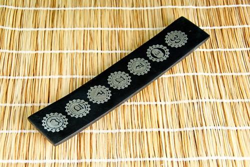 Chakrahalter schwarz, aus Speckstein