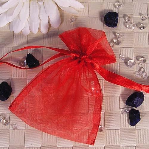 Organzabeutel klein, rot, 9x12cm