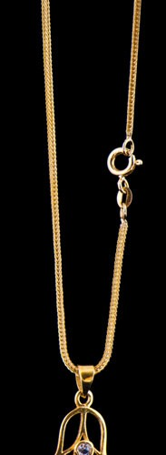 Fuchsschwanzkette 40 cm vergoldet