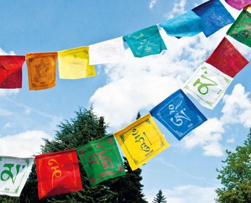 Tibetische Gebetsfahnen 8 Glückssymbole